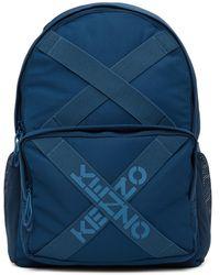 KENZO ネイビー Sport ロゴ バックパック - ブルー