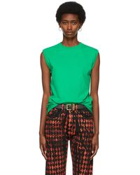 Maximilian Logo Tank Top T-shirt - Green