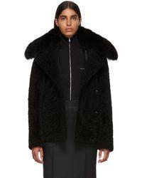 Yves Salomon - Black Curly Merinillo Jacket - Lyst