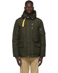 Parajumpers グリーン Right Hand Base ダウン パーカー