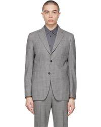 Comme des Garçons - Grey Wool Stripe Blazer - Lyst