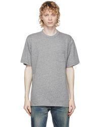 John Elliott T-shirt à poche gris Lucky