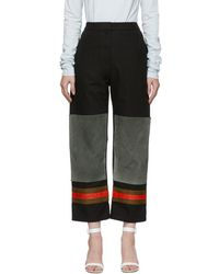 CALVIN KLEIN 205W39NYC - Black And Grey Worker Trousers - Lyst