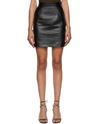 Materiel Tbilisi Faux-leather Miniskirt - Black