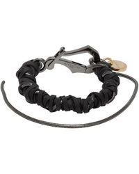 Givenchy Bracelet tresse noir