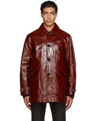 Our Legacy Leather Buta Coat - Multicolor