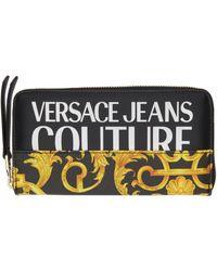 Versace Jeans Couture ブラック & ゴールド Barocco ウォレット