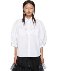 Simone Rocha White Beaded Bustier Boy Shirt