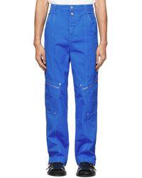 Eckhaus Latta Blue Utility Cargo Pants