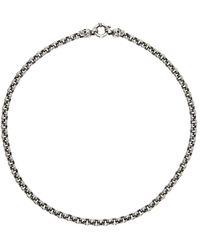 Ugo Cacciatori Chain & Skulls Necklace - Metallic