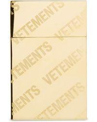 Vetements ゴールド モノグラム シガレット ケース - メタリック