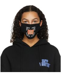 Off-White c/o Virgil Abloh Masque noir Graffiti