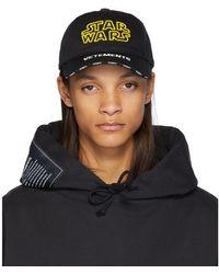 Vetements Black Star Wars Edition Logo Cap