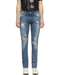 Nudie Jeans Jean bleu Distressed Lean Dean