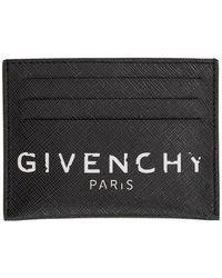 Givenchy ブラック ロゴ カード ホルダー