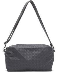 Bao Bao Issey Miyake Gray One-tone Saddle Bag