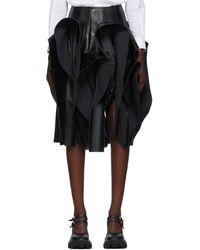 Comme des Garçons Black Faux-leather Ruffle Skirt