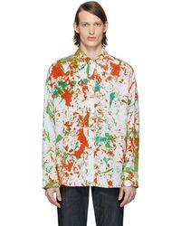 S.R. STUDIO. LA. CA. Green & Orange Soto Hand-dyed Oversized Shirt