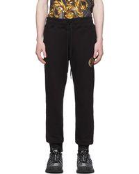 Versace Jeans Couture ブラック V Emblem スウェットパンツ