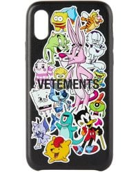 Vetements - ブラック Monster Stickers Iphone Xs ケース - Lyst