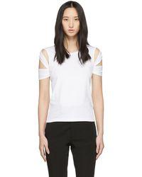 Helmut Lang - White Bondage Sleeve T-shirt - Lyst