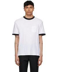 Second/Layer ホワイト & ブラック T シャツ