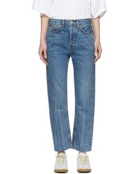 RE/DONE - Blue Originals Stove Pipe Jeans - Lyst