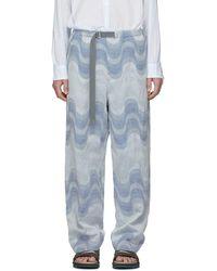 Dries Van Noten - Blue Verner Panton Edition Piene Tris Trousers - Lyst