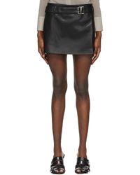 MISBHV Vegan Leather 90s Skirt - Black