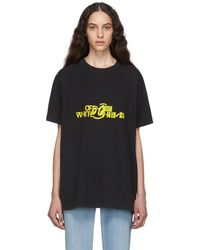 Off-White c/o Virgil Abloh Black And Yellow Halftone Over T-shirt