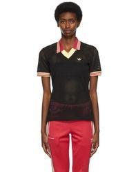 Wales Bonner Adidas エディション ブラック ポロシャツ