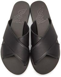 Ancient Greek Sandals Thais Sandals - Black