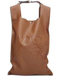 Loewe Sac a dos brun clair Shopper - Marron