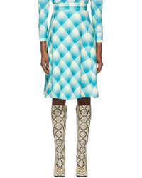 Gucci Blue Optical Tartan Skirt