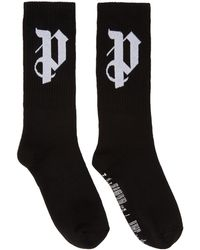 Palm Angels - Ssense Exclusive Black 'pa' Monogram Socks - Lyst
