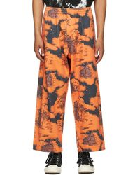 Vyner Articles Pantalon de survêtement tropic orange et noir