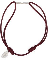 Valentino Garavani Burgundy Cord Vlogo Bracelet - Multicolour