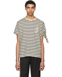 J.W. Anderson | Black And White Breton Stripe Tie Knot T-shirt | Lyst