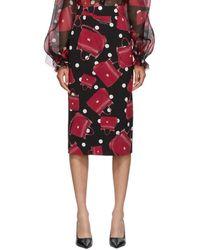 Dolce & Gabbana - ブラック Sicily バッグ ペンシル スカート - Lyst