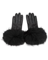 Mackage - Black Fur Witty Gloves - Lyst