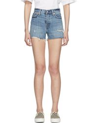 Levi's - Blue Wedgie Shorts - Lyst