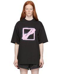 we11done - ブラック ロゴ T シャツ - Lyst