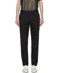 Gucci - Black Embroidered Chinos - Lyst