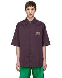 Prada - Purple Stripe Shirt - Lyst