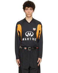 Martine Rose T-shirt à manches longues Revels noir