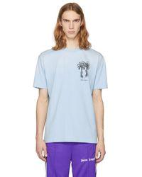 Palm Angels - Blue Palms Capture T-shirt - Lyst