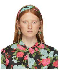 Erdem Black Noel Stewart Edition Floral Headband - Multicolor