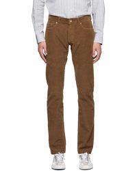 President's Pantalon en velours côtelé brun Icarus - Marron