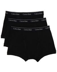 Calvin Klein ブラック Classic Fit トランク ボクサー 3 枚セット