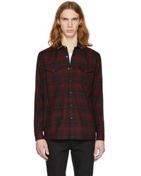 Valentino - Red And Black Rockstud Check Shirt - Lyst